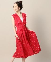 <Knot Sisters> 薔薇印花連衣裙