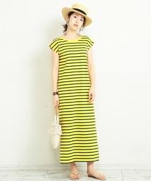 【特別訂製商品】<Le minor>∴背面V領短袖洋裝