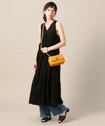 <ne Quittez pas> 層疊V領無袖連身洋裝/黑色
