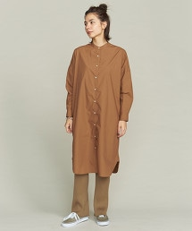 BY 純棉高密度織襯衫式洋裝