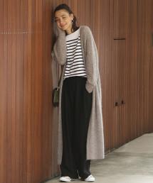 BY∴ 混紡馬海毛長版針織睡袍