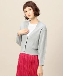 BY 羅紋短版寬鬆開襟衫