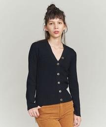 BY 羅紋V領對襟外套