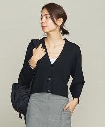 BY 羅紋短寬版對襟外套