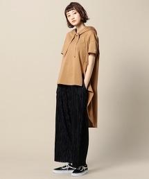 <Americana>燕尾服衣襬短袖厚棉帽T
