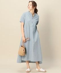 【特別訂製】<AMERICANA>拉鏈短袖洋裝/Hickory