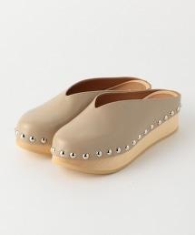 <PIPPICHIC>鉚釘皮質涼鞋