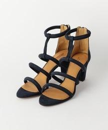 <CHEMBUR>雙細帶T型繫帶涼鞋