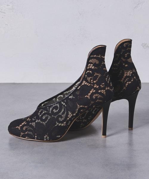 <PIPPICHIC>CARLA 蕾絲高跟短靴