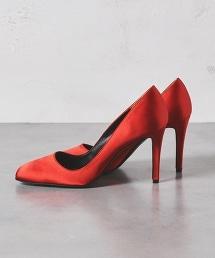 【特別訂製】<PIPPICHIC>VIANCA SATIN PUMPS緞面方頭高跟包鞋