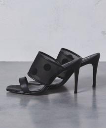 <CHEMBUR>圓點高跟涼鞋