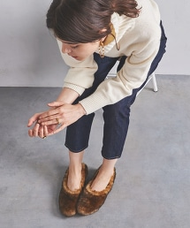 <PIPPICHIC>仿皮草 芭蕾舞鞋