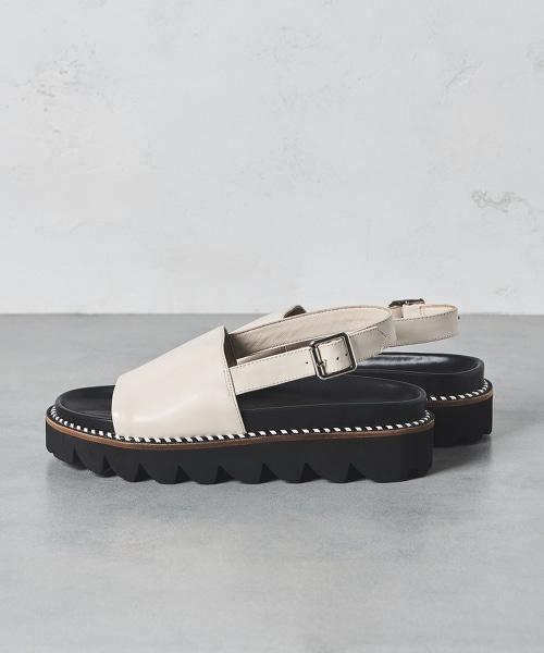 UWMSC 後側鞋帶皮革涼鞋
