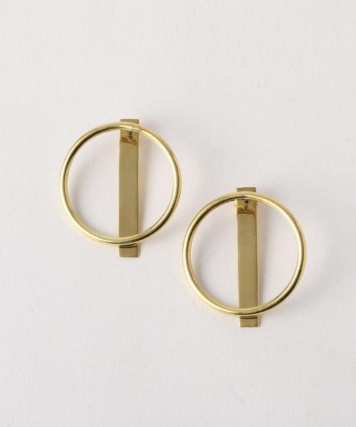 <SOKO>圓形長條耳環
