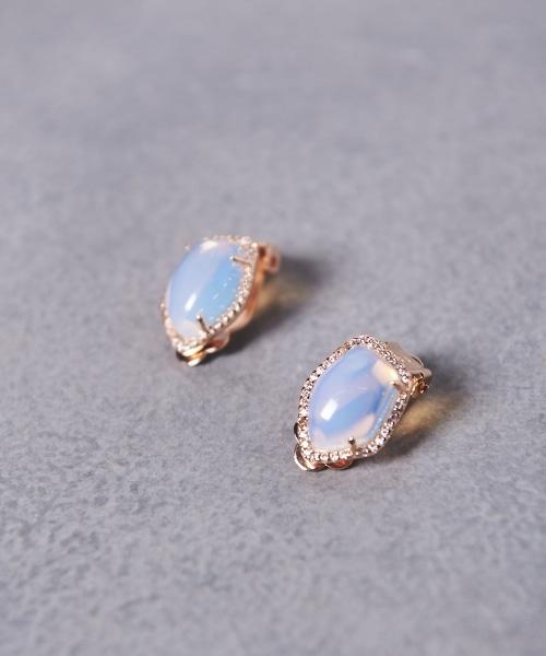 UBCB DEFORME 水鑽石頭耳環
