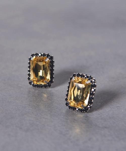 UWCS 方形寶石耳環