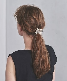 <petite robe noire>珍珠×寶石髮夾■■■