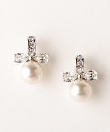 UPMF 人造珍珠綢帶耳環