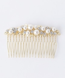 UPMF 寶石&人造珍珠排梳髮插