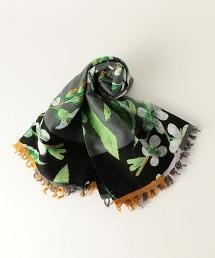 <EPICE> 花朵流蘇圍巾210×100