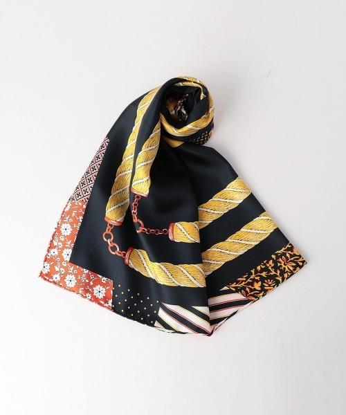<manipuri>絲質印花方巾88×88
