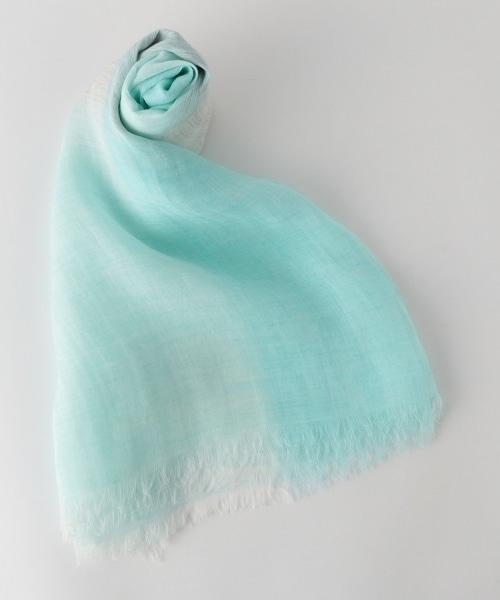 UBCE 苧麻格紋圍巾 80×180