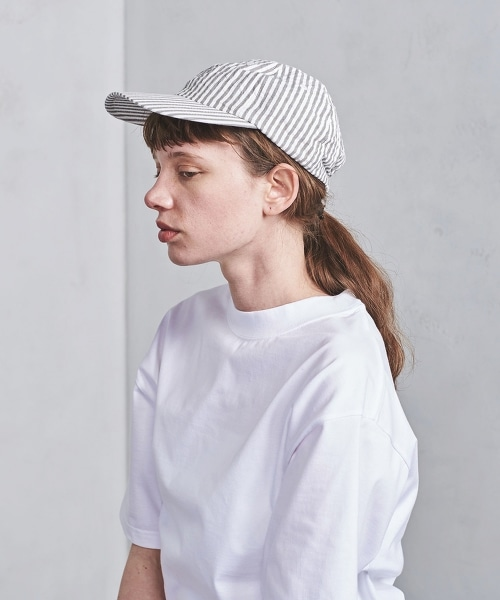 <KIJIMA TAKAYUKI>泡泡紗條紋棒球帽