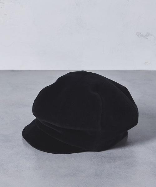 UWSC 天鵝絨CASQUETTE報童帽