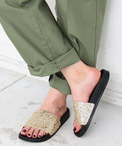 <CHIARA>∴亮粉閃耀拖鞋