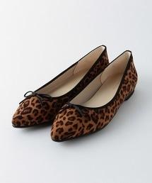 BY 豹紋尖頭芭蕾舞鞋
