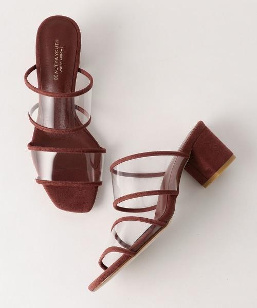 BY 透明裸跟鞋