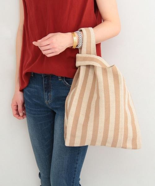 BY 條紋購物袋