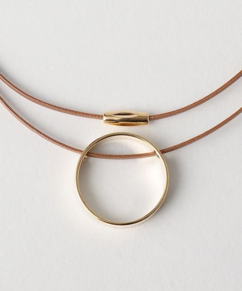 BY 人造皮革雙層圓環項鍊