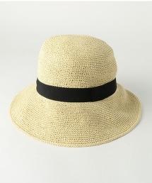 BY 紙編緞帶帽