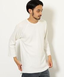SC 蜂巢織 連肩袖 圓領 7分袖 T恤