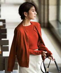 [可手洗] D 羊毛 12G  仿珍珠釦 圓領 對襟外套