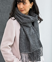 D 喀什米爾格紋圍巾