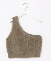 『BRACTMENT』馬海毛單肩針織背心