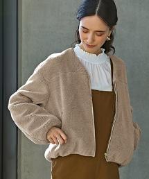 ◆SC 仿羊絨 拉鍊 夾克