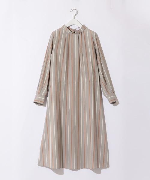 『BRACTMENT』直條紋傘狀襯衫式洋裝