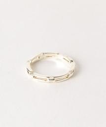FM 長方形鏈戒指