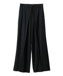 ASTRAET 條紋細褶寬褲