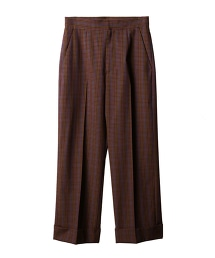 ASTRAET 格紋 錐形褲