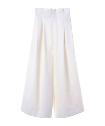 ASTRAET 打褶 後褶 寬褲 WHITE