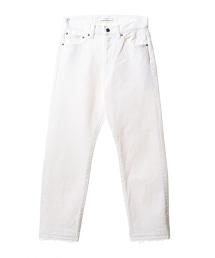 ASTRAET 不修邊丹寧褲 WHITE