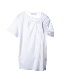 ASTRAET 皺褶純棉中袖T恤