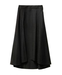 ASTRAET 條紋拼接荷葉裙