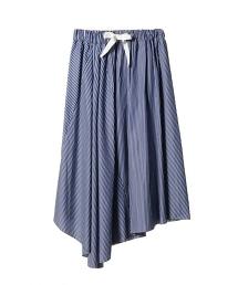 ASTRAET 條紋不規則長裙
