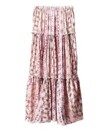 ASTRAET 懷舊花朵印花長裙