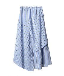 ASTRAET 橫條紋 補丁 不規則 長裙